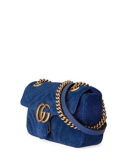 GG Marmont 2.0 Mini Velvet Shoulder Bag