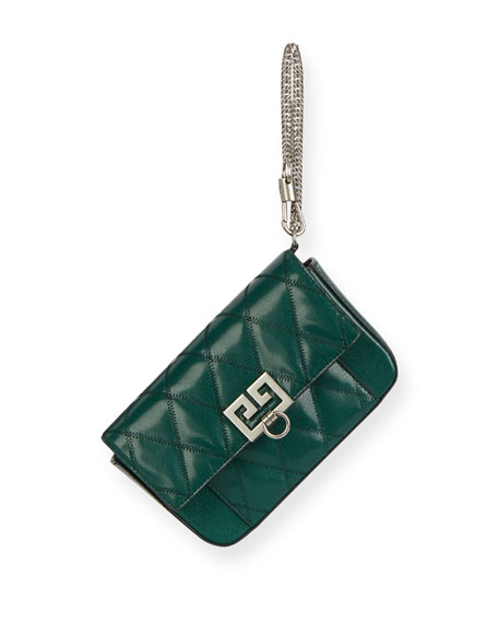 Pocket Mini Pouch Convertible Clutch/Belt Bag - Silvertone Hardware