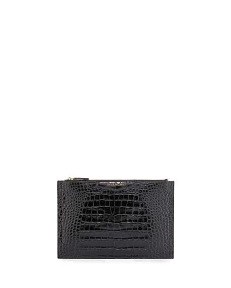Image 1 of 1: Antigona Croc-Embossed Medium Pouch Bag