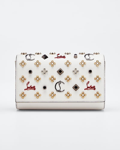 Paloma Fold-Over Embellished Clutch Bag