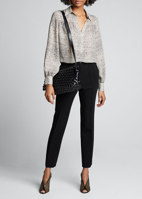 Intrecciato Crochet Crossbody Bag