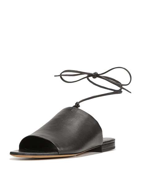 Image 1 of 1: Damon Leather Ankle-Tie Mule