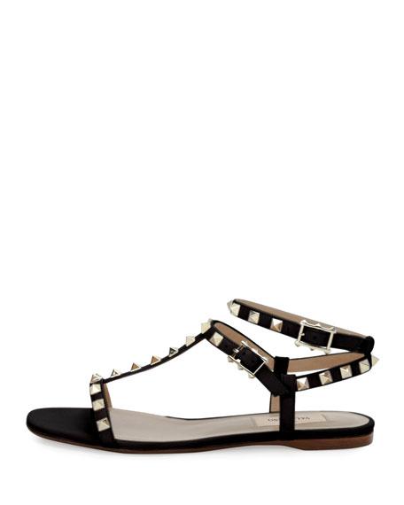 bca93654aad Valentino Garavani Rockstud T-Strap Flat Sandal