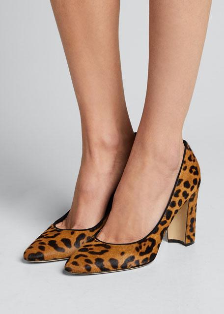 Tucciototo Leopard-Print Calf Hair Pumps
