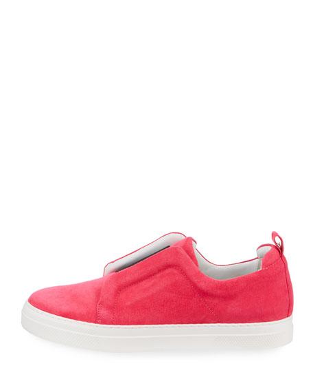 Slider Suede Slip-On Low-Top Sneaker