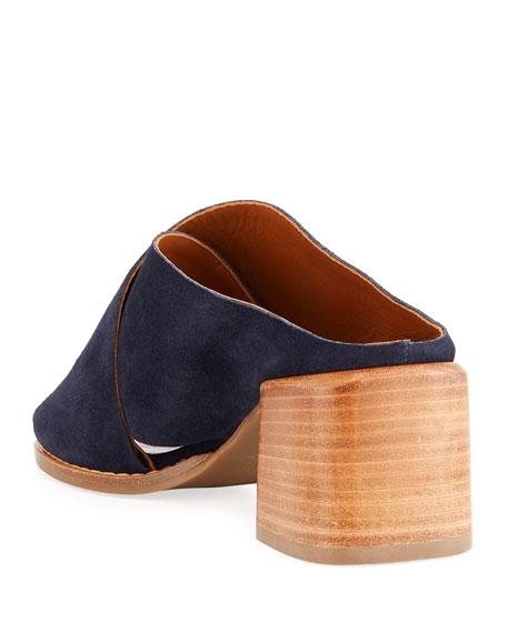 Janna Crisscross Suede Sandals