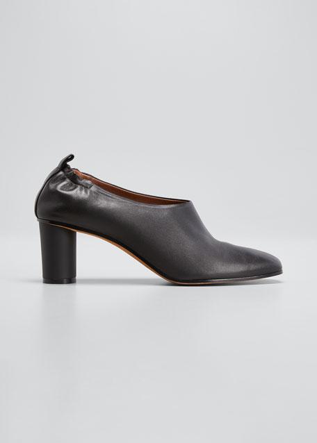 Micol Soft Leather Pumps, Black