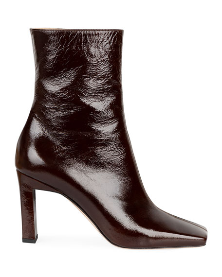 Image 1 of 1: Isa Side Zip Leather Booties
