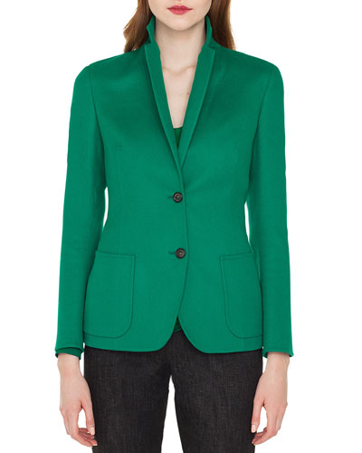 Saigon Notched-Collar Cashmere-Wool Blazer