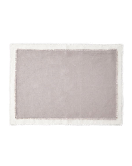 Image 1 of 1: Farrell Colorblock Linen Placemats, Set of 4