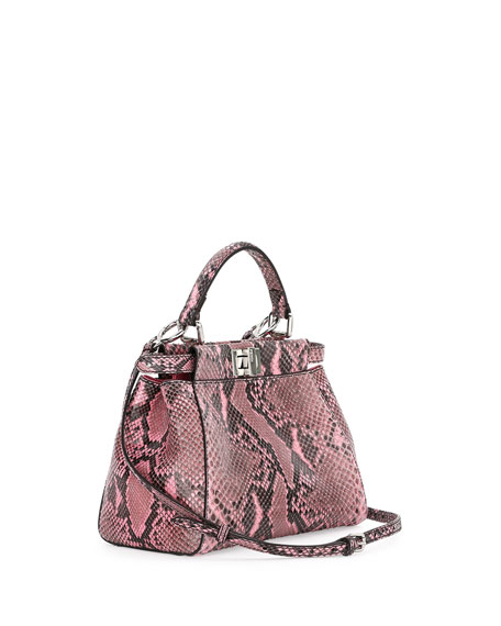Peekaboo Mini Python Satchel Bag