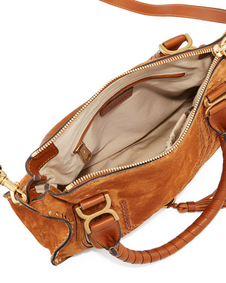 Marcie Medium Suede Satchel Bag