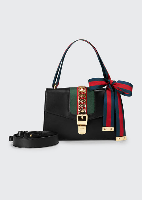Sylvie Small Leather Shoulder Bag