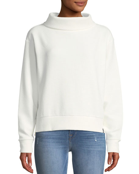 Image 1 of 1: Simon Ribbed Side-Zip Sweater