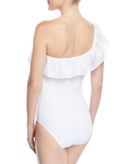 Chiara One-Shoulder Ruffle One-Piece Swimsuit