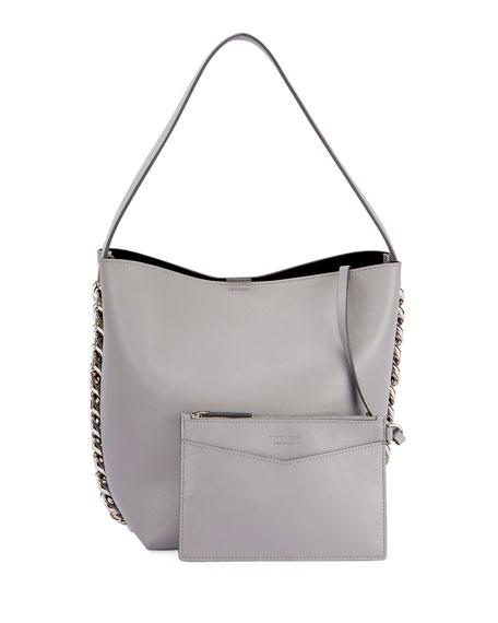 Infinity Calf Leather Chain Bucket Bag