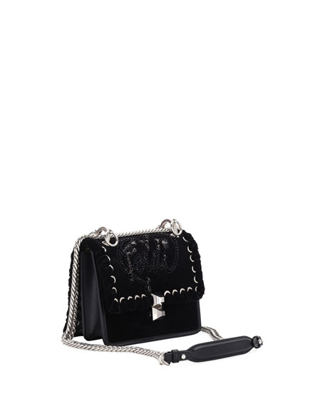 Kan I Small Velvet Shoulder Bag