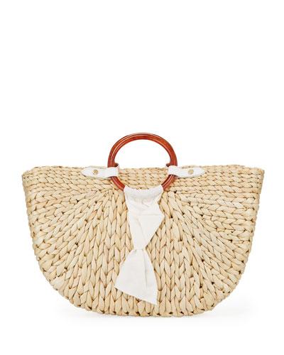 Bimini Corn Husk Crescent Tote Bag