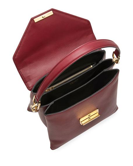 Ingrid Smooth Leather Top-Handle Shoulder Bag