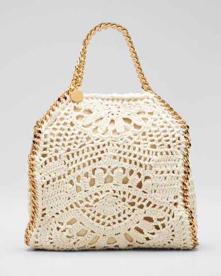 Falabella Small Crocheted Cotton Ajouree Tote Bag