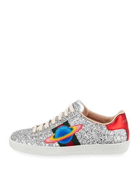 Ace Saturn Glitter Low-Top Sneaker