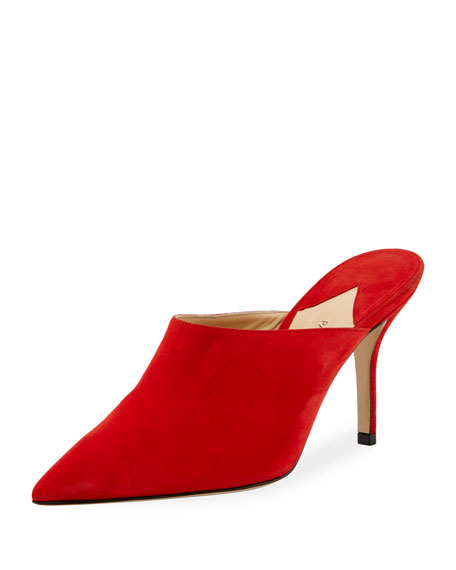 Certosa Point-Toe Suede Mules