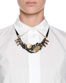 Jeweled Collar Necklace, Green