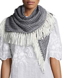 Herringbone Knit Blanket Scarf