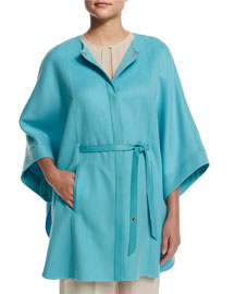 Margot Cashmere Cape Jacket, Clear Lake