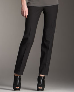 Piazza Sempione Marion Side-Zip Pants, Black