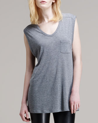 Jersey Pocket Muscle Tee
