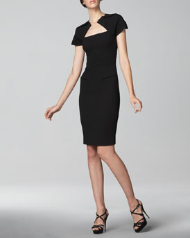 Roland Mouret Myrtha Folded Sheath Dress