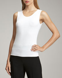 Sleeveless Stretch-Jersey Top