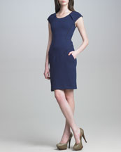 J. Mendel Fitted Crepe Dress