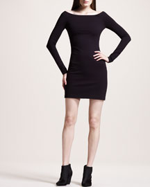 Off-Shoulder Jersey Dress