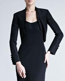 Silk Faille Bolero Jacket
