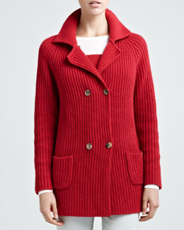 Loro Piana Julia Double-Breasted Cardigan