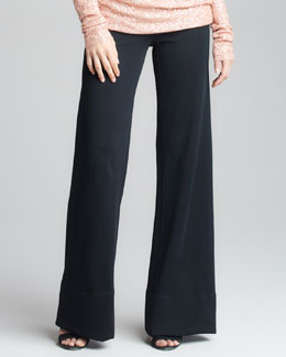 Donna Karan Crepe Double-Jersey Trousers