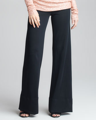 Asymmetric Convert Tunic & Crepe Double-Jersey Trousers