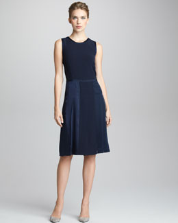 Giorgio Armani Hand-Stitched Bifabric Dress