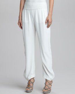 Giorgio Armani Easy Pull-On Pants