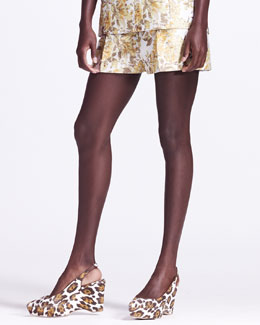 Stella McCartney Pleated Floral Shorts
