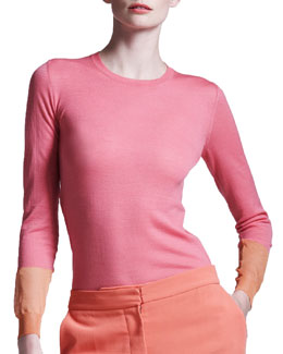 Stella McCartney Colorblock-Cuff Sweater
