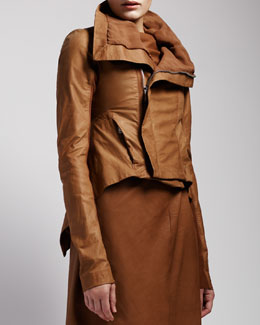 Rick Owens Leather Tail Jacket