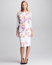 Emilio Pucci Marilyn Butterfly-Print Dress