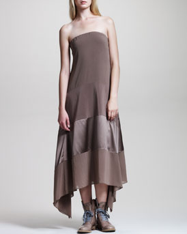 Brunello Cucinelli Strapless Trapeze Dress