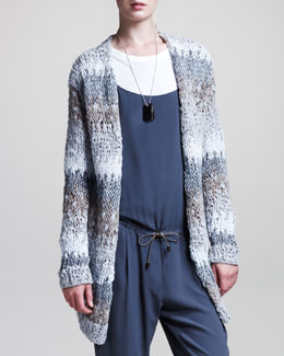 Brunello Cucinelli Stripe-Knit Cardigan