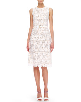 Michael Kors Sleeveless Eyelet Dress