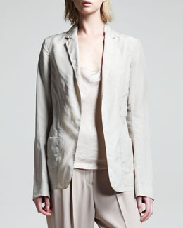 THE ROW Tie-Belt Organza Blazer