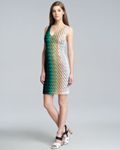 Missoni Degrade Knit Sleeveless Sheath Dress